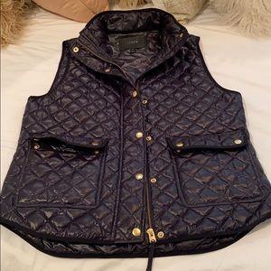 JCrew navy quilted vest